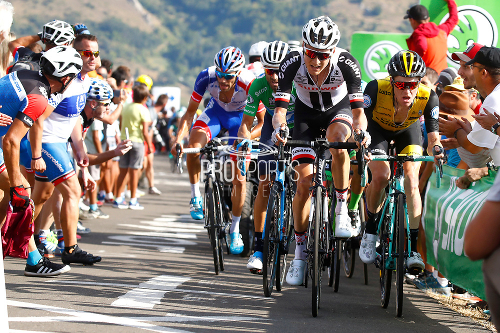 Wilco Kelderman (NED,Team Sunweb) and Steven Kruijswijk (NED, Team LottoNL Jumbo) during the 73th Edition of the 2018 Tour of Spain, Vuelta Espana 2018, Stage 13 cycling race, Candas Carreno - La Camperona 174,8 km on September 7, 2018 in Spain - Photo Luca Bettini / BettiniPhoto / ProSportsImages / DPPI