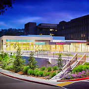 Exterior image of Kaiser ED in San Rafael, CA Healthcare Infrastructure - Architectural Example of Chip Allen Photography.