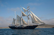 Square-rigger tall sailing ship, Galapagos