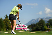 Gaby Lopez (Esp) competes during the Rolex Pro-Am of LPGA Evian Championship 2018, Day 3, at Evian Resort Golf Club, in Evian-Les-Bains, France, on September 12, 2018, Photo Philippe Millereau / KMSP / ProSportsImages / DPPI