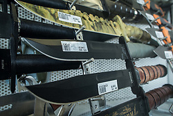 Knifes in armoury shop in City of San Marino, on October 12, 2015 in Republic of San Marino. Photo by Vid Ponikvar / Sportida