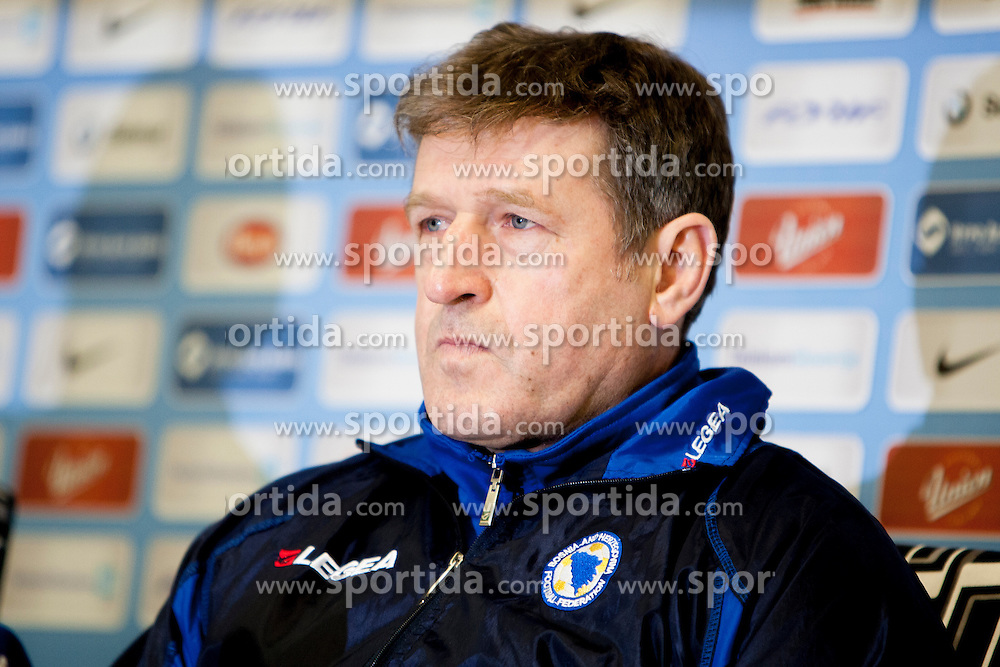Safet Susic, head coach of Team Bosnia and Herzegovina before friendly football match between National teams of Slovenia and Bosnia and Herzegovina, on February 5, 2013 in SRC Stozice, Ljubljana, Slovenia. (Photo By Urban Urbanc / Sportida.com)