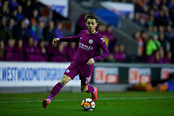 WIGAN, ENGLAND - Monday, February 19, 2018: Manchester City's Bernardo Silva during the FA Cup 5th Round match between Wigan Athletic FC and Manchester City FC at the DW Stadium. (Pic by David Rawcliffe/Propaganda)