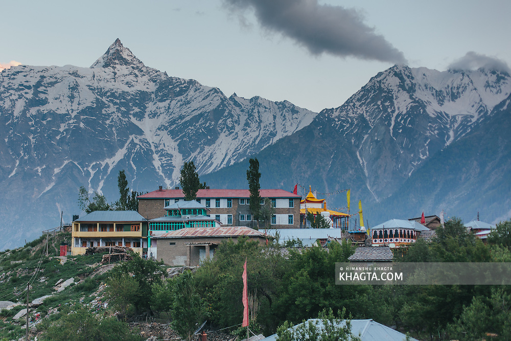 Landscape of village Kalpa in the evening, Kinnaur