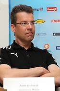 3.5.2012, SLU-talo, Helsinki..Superpesiksen avaustilaisuus..Pelinjohtaja Antti Etelp - Joensuun Maila