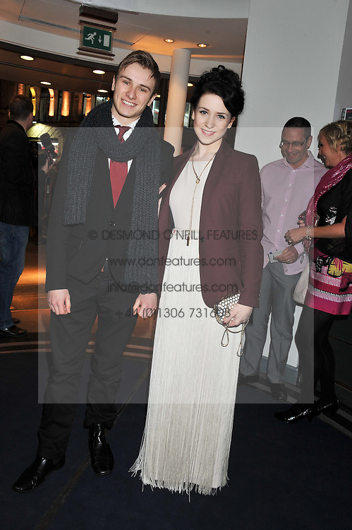 DANIELLE HOPE and ROBBIE BOYLE at the What's On Stage Awards 2012 held at the Prince of wales Theatre, London on 19th February 2012.