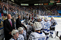KELOWNA, CANADA - DECEMBER 7: Victoria Royals' bench on December 7, 2018 at Prospera Place in Kelowna, British Columbia, Canada.  (Photo by Marissa Baecker/Shoot the Breeze)