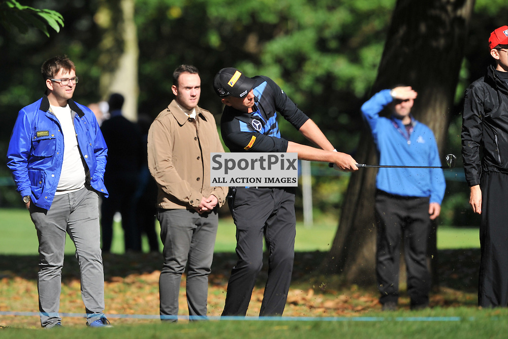 Marcel Siem Germany Hits his way out of the rough, British Masters, European Tour, Woburn Golf Club, 8th October 2015