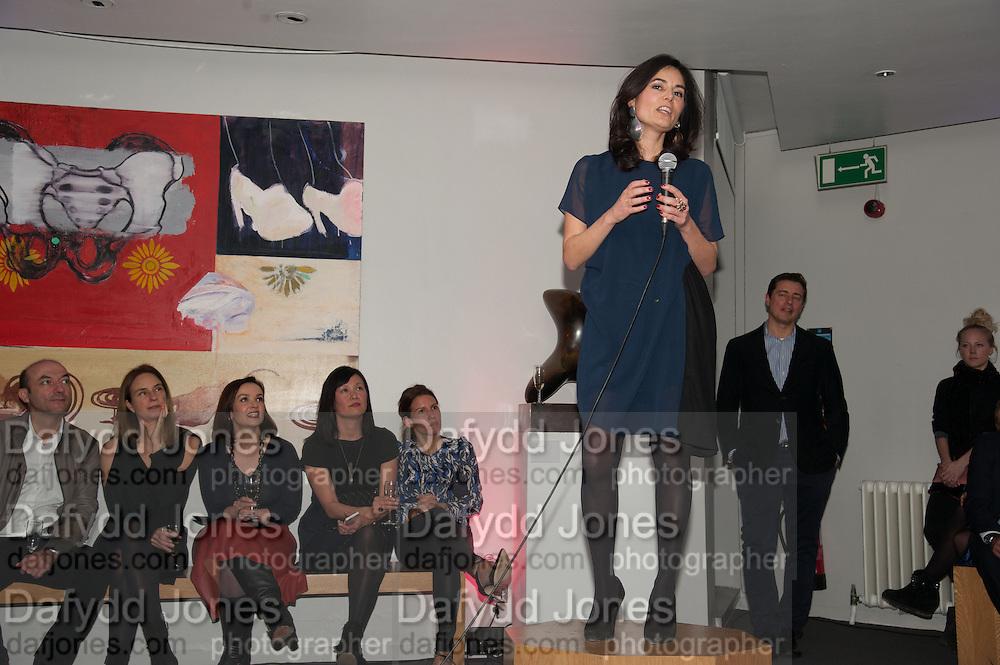 ELEONORE DRESCH; , The Culture Whisper Launch party. Royal College of art. Royal College of Art, Kensington Gore. London. 28 January 2014
