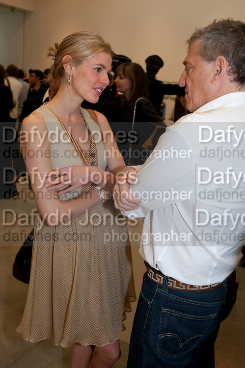 donna air; carlos almada, Jake or Dinos Chapman, White Cube, Mason's Yard and afterwards at The Tab Centre, Austin Street, London E2. 14 July 2011. <br /> <br />  , -DO NOT ARCHIVE-© Copyright Photograph by Dafydd Jones. 248 Clapham Rd. London SW9 0PZ. Tel 0207 820 0771. www.dafjones.com.