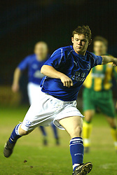 WIDNES, ENGLAND - Tuesday, March 11, 2003: Everton's Wayne Rooney in action for the reserves against West Brom Reserves in the Premier Reserve League (Northern Division) at the Halton Stadium. (Pic by David Rawcliffe/Propaganda)
