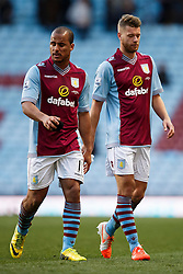 Aston Villa Forward Gabriel Agbonlahor (ENG) looks dejected after a 1-4 loss - Photo mandatory by-line: Rogan Thomson/JMP - 07966 386802 - 23/03/2014 - SPORT - FOOTBALL - Villa Park, Birmingham - Aston Villa v Stoke City - Barclays Premier League.