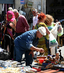 Jaffa  - May  2nd,  2008 -  People at the local market in Jaffa, Israel,  May 2nd, 2008. Picture by Andrew Parsons / i-Images