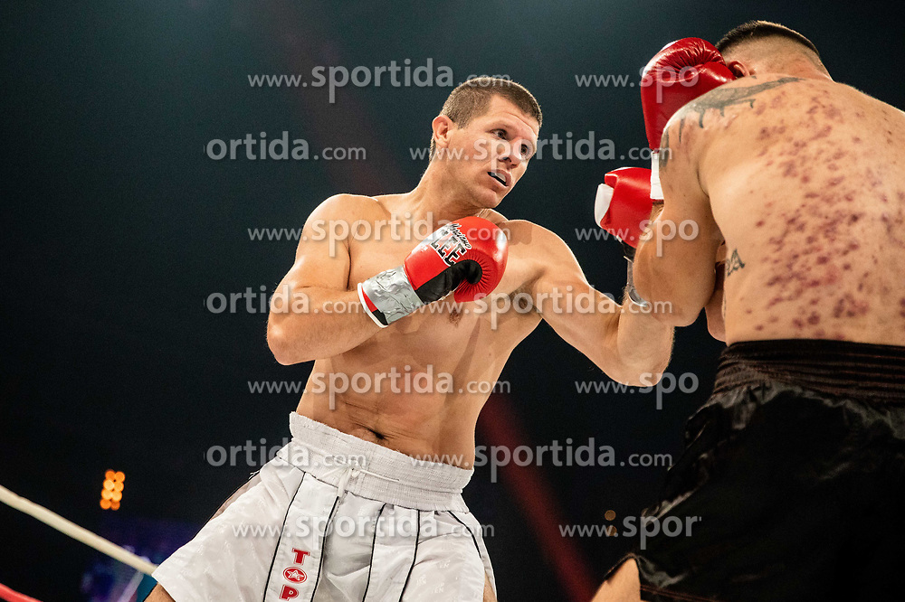 Abel Pešut of Croatia (black) vs Luka Stajić of Serbia (white) during their heavyweight fight at CFC 5 Fighting event, on October 6, 2019 in Arena Stozice, Ljubljana, Slovenia. Photo by Vid Ponikvar / Sportida