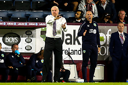 Burnley manager Sean Dyche cuts a frustrated figure - Mandatory by-line: Robbie Stephenson/JMP - 30/08/2018 - FOOTBALL - Turf Moor - Burnley, England - Burnley v Olympiakos - UEFA Europa League Play-offs second leg