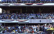 Vista de las tribunas del Hipódromo de La Rinconada. Caracas, 2000.  View of the stands of La Rinconada's Racetrack. (Ramón Lepage/Orinoquiaphoto)
