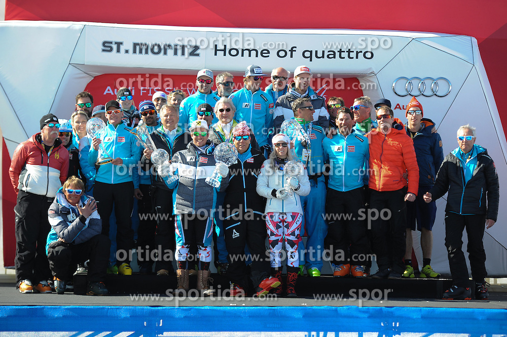 20.03.2016, Engiadina, St. Moritz, SUI, FIS Weltcup Ski Alpin, St. Moritz, Weltcup Siegerehrung, im Bild Nationen Cup // Nationen Cup during Alpine World Cup award winner ceremony of St. Moritz Ski Alpine World Cup finals at the Engiadina in St. Moritz, Switzerland on 2016/03/20. EXPA Pictures © 2016, PhotoCredit: EXPA/ Erich Spiess