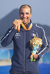 Damien Seguin, Medaile D'Or, Podium, 2.4mR, Voile, Sailing, Gold Medal à Rio 2016 Paralympic Games, Brazil