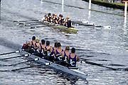 Henley Royal Regatta, Henley on Thames, ENGLAND,  1996, Grand Challenge Cup.Imperial College, London & Queen's Tower BC, leading RSR Skadi & Wageningsche SR Argo, HOLLAND, Photo: Peter Spurrier/Intersport Images.  Mob +44 7973 819 551/email images@intersport-images.com