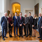 20.11.2016           <br /> Winners of the 2016 All Ireland Scholarships were commended by Rugby Legend, Paul O'Connell at an awards ceremony at the University of Limerick. <br />  Sponsored by JP McManus, the educational scheme is set to provide financial assistance to many high achieving students who completed their Leaving Certificat/A Level examinations in 2016. <br /> <br /> Attending the awards ceremony were, scholarship recipients, Chloe Carrick, Ballinasloe Co. Galway, Conor Gaffney, Wexford Town, James McDonnell, Middleton Co. Cork and Eimear McErlane, The Loup Co. Derry with Gerry Boland, JP McManus Foundation, Patrick O'Donovan TD, Minister for Tourism & Sport,  and Prof Roger Downer. Picture: Alan Place