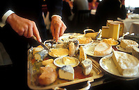cheese service at the three star restaurant Le Grand Vefour, in Paris.