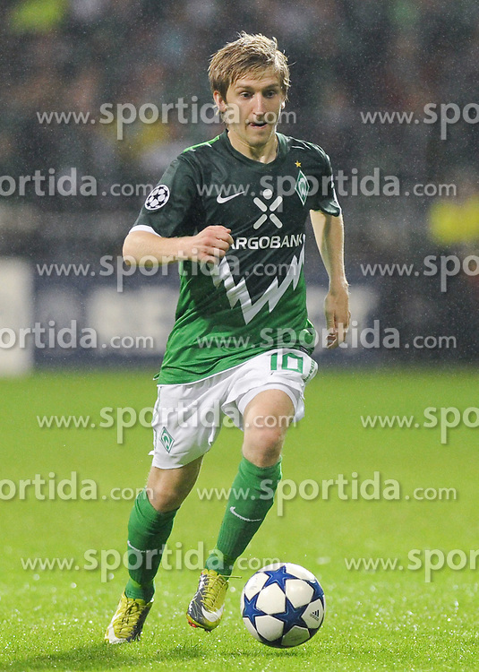 14.09.2010, Weserstadion, Bremen, GER, UEFA CL Gruppe A, Werder Bremen (GER) vs Tottenham Hotspur (UK), im Bild Marko Marin (Bremen #10)   EXPA Pictures © 2010, PhotoCredit: EXPA/ nph/  Frisch+++++ ATTENTION - OUT OF GER +++++ / SPORTIDA PHOTO AGENCY
