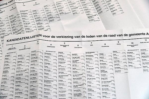 Nederland, Arnhem, 18-3-2014 Kandidatenlijst voor de gemeenteraadsverkiezingen. Foto: Flip Franssen/Hollandse Hoogte