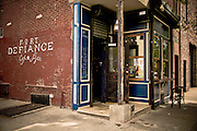 Fort Defiance Cafe and Bar on Van Brunt Street in Red Hook, brooklyn