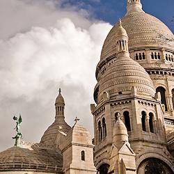 View of the Sacre Coeur Basilica, Montmartre, Paris, France, Europe