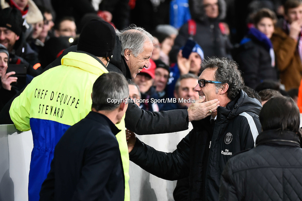 Rene GIRARD / Laurent BLANC - 03.12.2014 - Lille / Paris Saint Germain - 16eme journee de Ligue 1<br />
