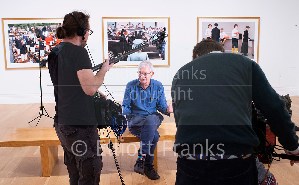 Martin Parr <br /> Photography exhibition <br /> Only Human <br /> At the National Portrait Gallery, London, Great Britain <br /> Press view <br /> 6th March 2019 <br /> <br /> <br /> Martin Parr (Photographer) <br /> Speaks to journalists ahead of giving a guided tour of his work. <br /> <br /> Photograph by Elliott Franks