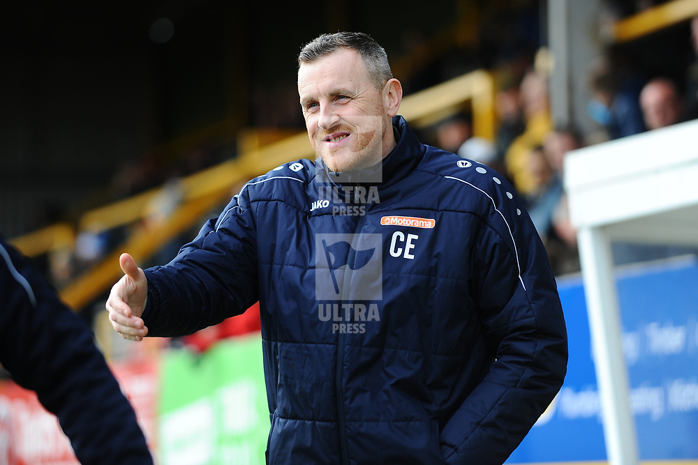 TELFORD COPYRIGHT MIKE SHERIDAN  Boston manager Craig Elliot during the Vanarama Conference North fixture between Boston and AFC Telford United at the Jakemans Stadium, York Street on Saturday, February 22, 2020.<br /> <br /> Picture credit: Mike Sheridan/Ultrapress<br /> <br /> MS201920-047