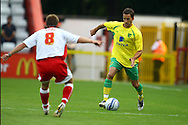 Stevenage - Tuesday July 20th, 2010:   Adam Drury of Norwich in action during the Pre Season Friendly match at the Lamex Stadium, Stevenage. (Pic by Paul Chesterton/Focus Images)