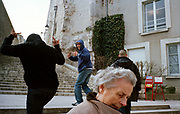 FRANCE. Blois. Youth from the banlieue wandering around the historic town centre. 2006.