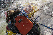 Whitewater rafting through the Grand Canyon on the Colorado River