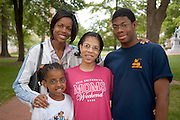 17660Mom's Weekend 2006 Candids on Campus ....Sean Burke,Pier Randle,Cousins: Sharmia Adams, Cachae Fisher