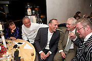 SUSAN GOODE; NOBU MATSUHISA; ? TREVOR GULLIVER; FERGUS HENDERSON; The Tomodachi ( Friends) Charity Dinner hosted by Chef Nobu Matsuhisa in aid of the Unicef  Japanese Tsunami Appeal. Nobu Berkeley St. London. 5 May 2011. <br /> <br />  , -DO NOT ARCHIVE-© Copyright Photograph by Dafydd Jones. 248 Clapham Rd. London SW9 0PZ. Tel 0207 820 0771. www.dafjones.com.