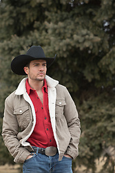hot cowboy outdoors