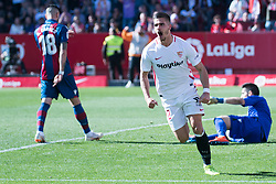 January 26, 2019 - Sevilla, Andalucia, Spain - Andre Silva celebrate the 2nd goal from Sevilla FC during the La Liga match between Sevilla FC v Levante UD at the Ramon Sanchez Pizjuan Stadium on January 26, 2019 in Sevilla, Spain  (Credit Image: © Javier MontañO/Pacific Press via ZUMA Wire)