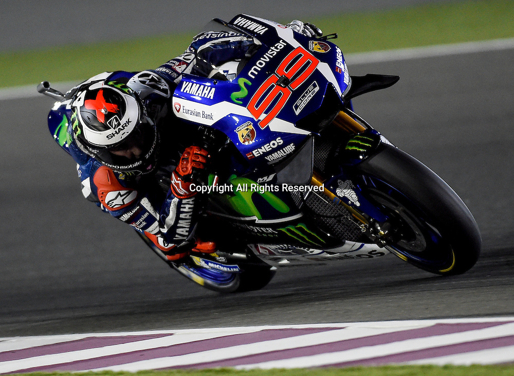 19.03.2016. Losail International Circuit, Doha, Qatar.Commercial Bank Grand Prix of Qatar.  Jorge Lorenzo (Movistar Yamaha) wins pole during the qualifing sessions.