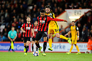 Joshua King (17) of AFC Bournemouth on the attack during the Premier League match between Bournemouth and Brighton and Hove Albion at the Vitality Stadium, Bournemouth, England on 15 September 2017. Photo by Graham Hunt.