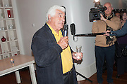 ANTONIO CARLUCCIO, Launch party for the publication of Antonio Carluccio's memoirs, A Recipe for Life, . Carluccio's in Covent Garden Garrick St. London.  26 September 2012