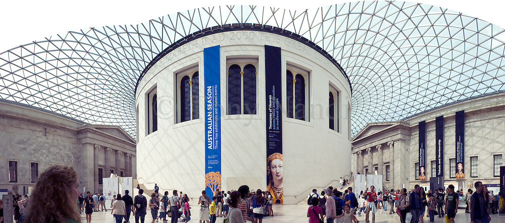 A multi-image composite of the attrium of the Britsih Museum, London. Built as part of the Millenium Celebrations for 2000.