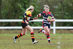 Chantelle Miell of Bristol Ladies in action - Rogan Thomson/JMP - 15/01/2017 - RUGBY UNION - Cleve RFC - Bristol, England - Bristol Ladies Rugby v Richmond WRFC - RFU Women's Premiership.