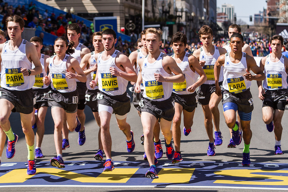 Boston Marathon: BAA Scholastic Mile, boys