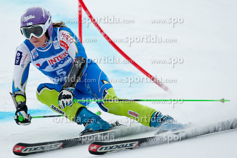 Tina Maze of Slovenia during 1st Run of 48th Golden Fox Audi Alpine FIS Ski World Cup Ladies Giant Slalom, on January 21, 2012 in Podkorn, Kranjska Gora, Slovenia. (Photo By Matic Klansek Velej / Sportida.com)