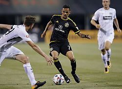 July 17, 2017 - Columbus, OH, USA - Columbus Crew midfielder Artur (7) faces off against Eintracht Frankfurt's David Abraham (19) in the second half of their match at Mapfre Stadium on July 17, 2017 in Columbus, Ohio. (Credit Image: © Brooke Lavalley/TNS via ZUMA Wire)