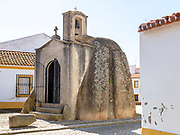 Anta de Pavia, Chapel Dolmen, Pavia village, Alentejo, Portugal, Southern Europe neolithic burial monument converted to Christian chapel