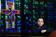 Pastor Paul D. Cao is photographed at St. Celestine Parish in Elmwood Park on Sunday, December 21st. 2014 l Brian J. Morowczynski-ViaPhotos<br /> <br /> For use in a single edition of Catholic New World Publications, Archdiocese of Chicago. Further use and/or distribution may be negotiated separately. <br /> <br /> Contact ViaPhotos at 708-602-0449 or email brian@viaphotos.com.