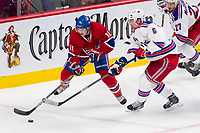 27 May 2014 Montreal Canadiens Right Wing Brendan Gallagher 11 and New York Rangers defenseman Anton Stralman 6 Fights for The Puck during Game Five of The Eastern Conference Final during The 2014 NHL Ice hockey men USA Stanley Cup Playoffs between The Montreal Canadians and The New York Rangers AT The Bell Centre in Montreal Quebec Canada NHL Ice hockey men USA May 27 Eastern Conference Final Rangers AT Canadiens Game 5 <br /> Norway only